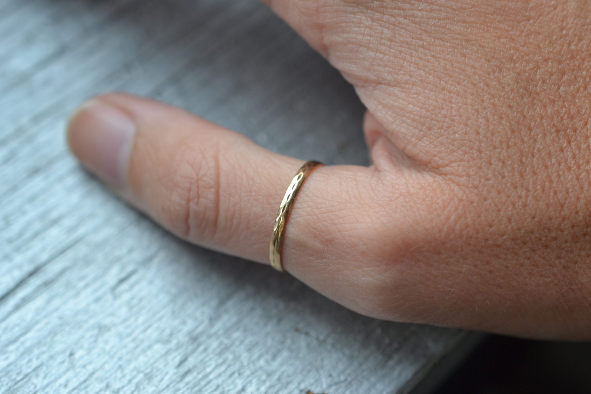 Bague simple vintage anneau