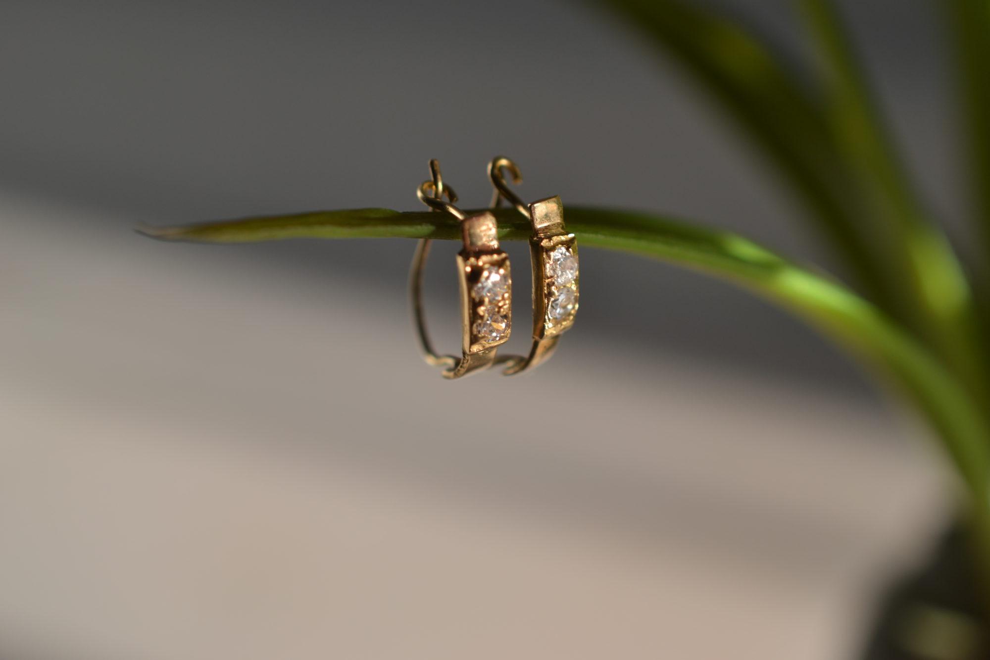 Mini Créoles Diamants Vintage