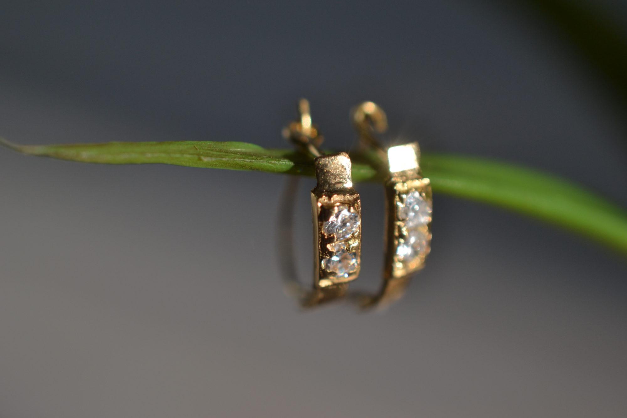 mini créoles diamants occasion