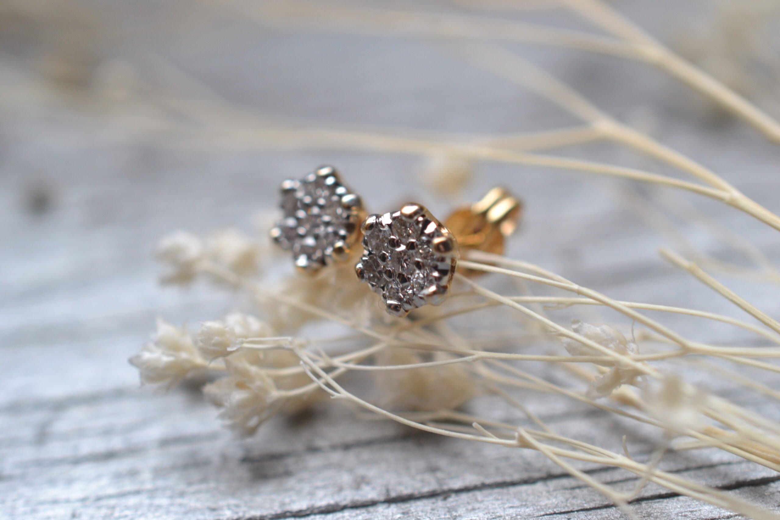 Puces D'oreilles En Diamants