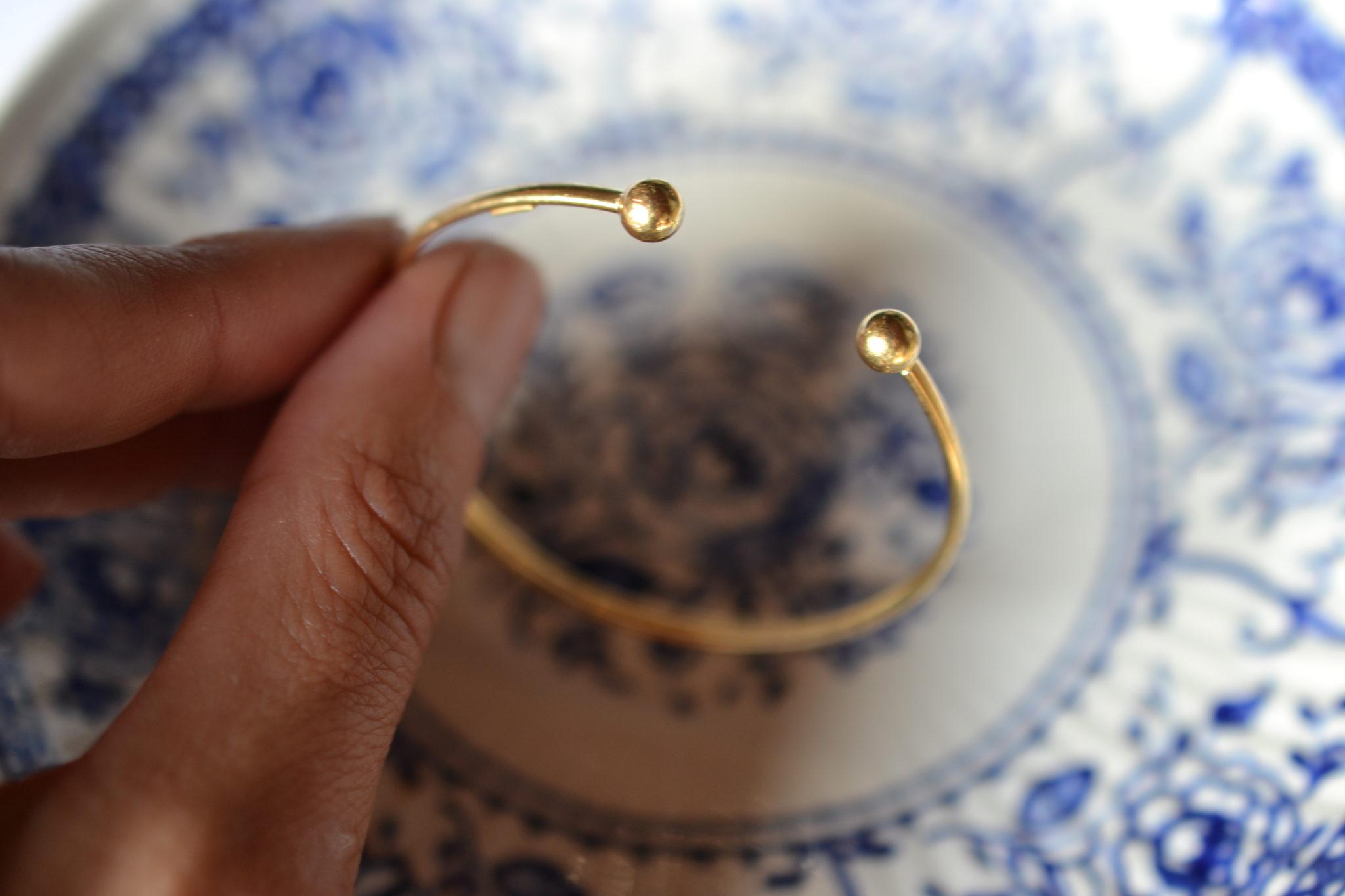 bracelet torque jonc en or - bijoux anciens en Or - Bijoux en or seconde main