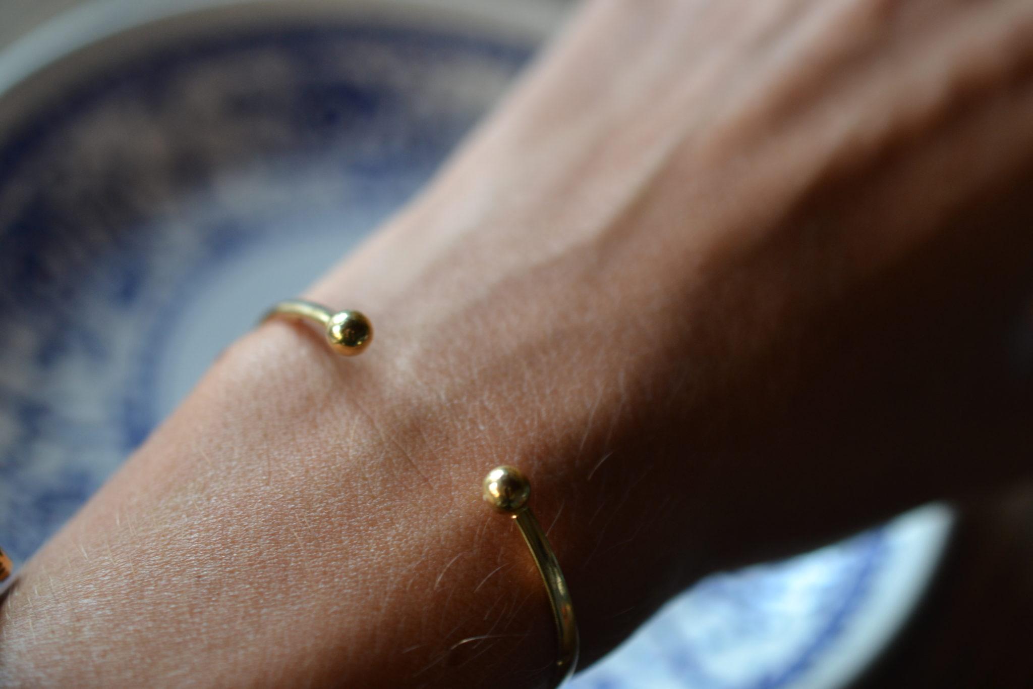 bracelet torque jonc en or - bijoux anciens en Or - Bijoux vintage