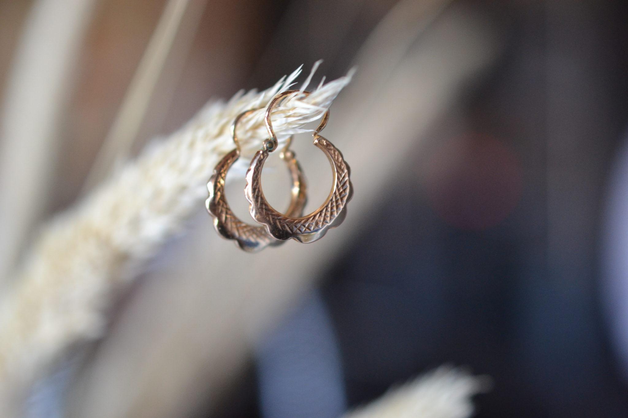 boucles d'oreilles anciennes en Or 18 carats 750:1000 - noircarat.fr - créoles bijoux anciens en Or