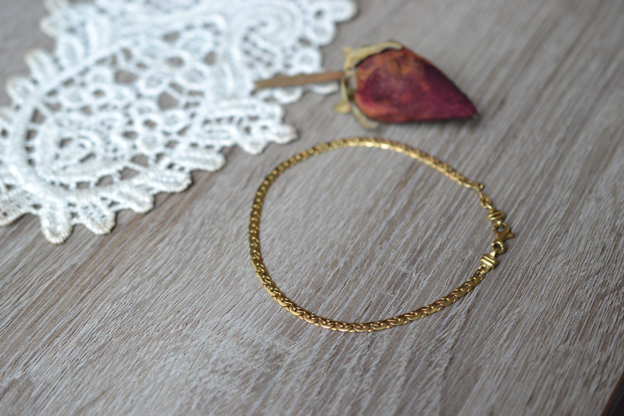 Bracelet maille en Or jaune unisexe bijou éthique