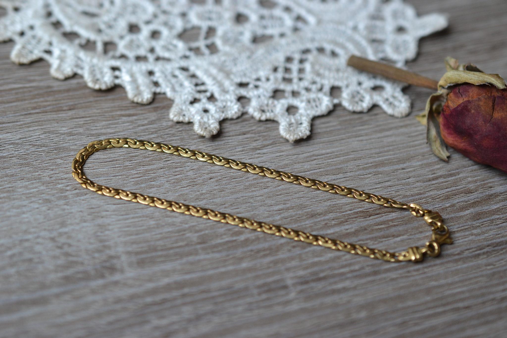 Bracelet Maille En Or Jaune Unisexe Bijou Seconde Main