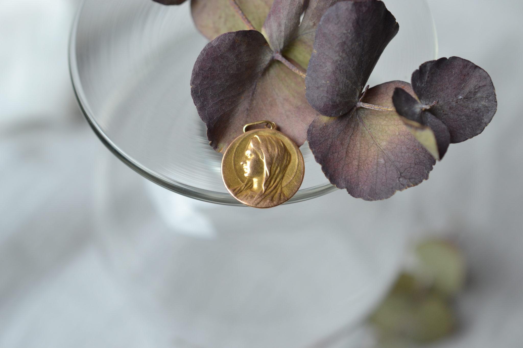 Médaille Vierge Marie De Profil