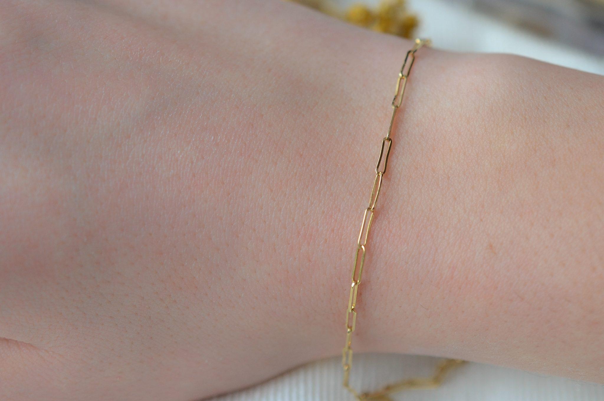 Bracelet maille en Or jaune - bijou ancien