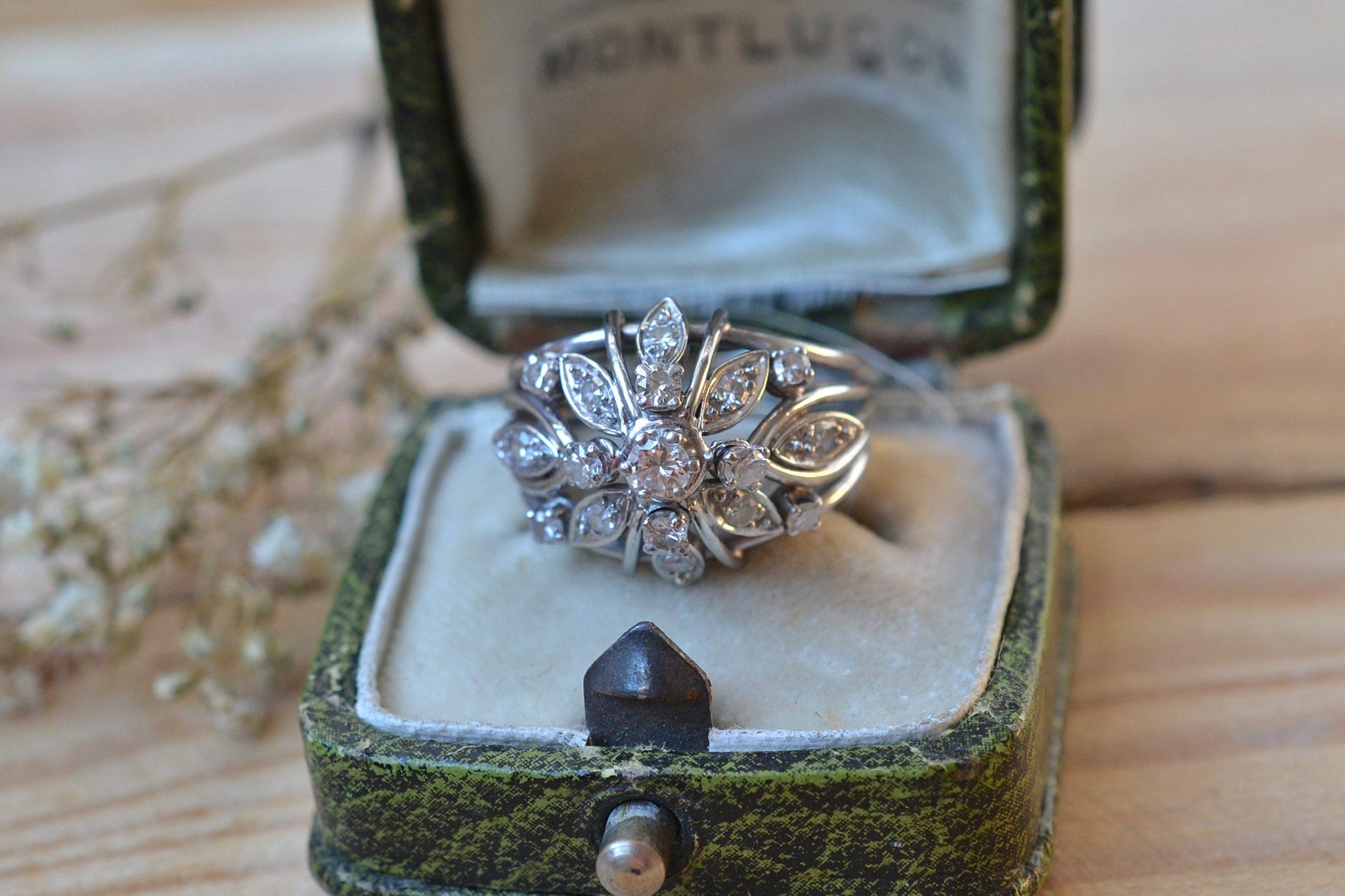 Bague Florale Diamants
