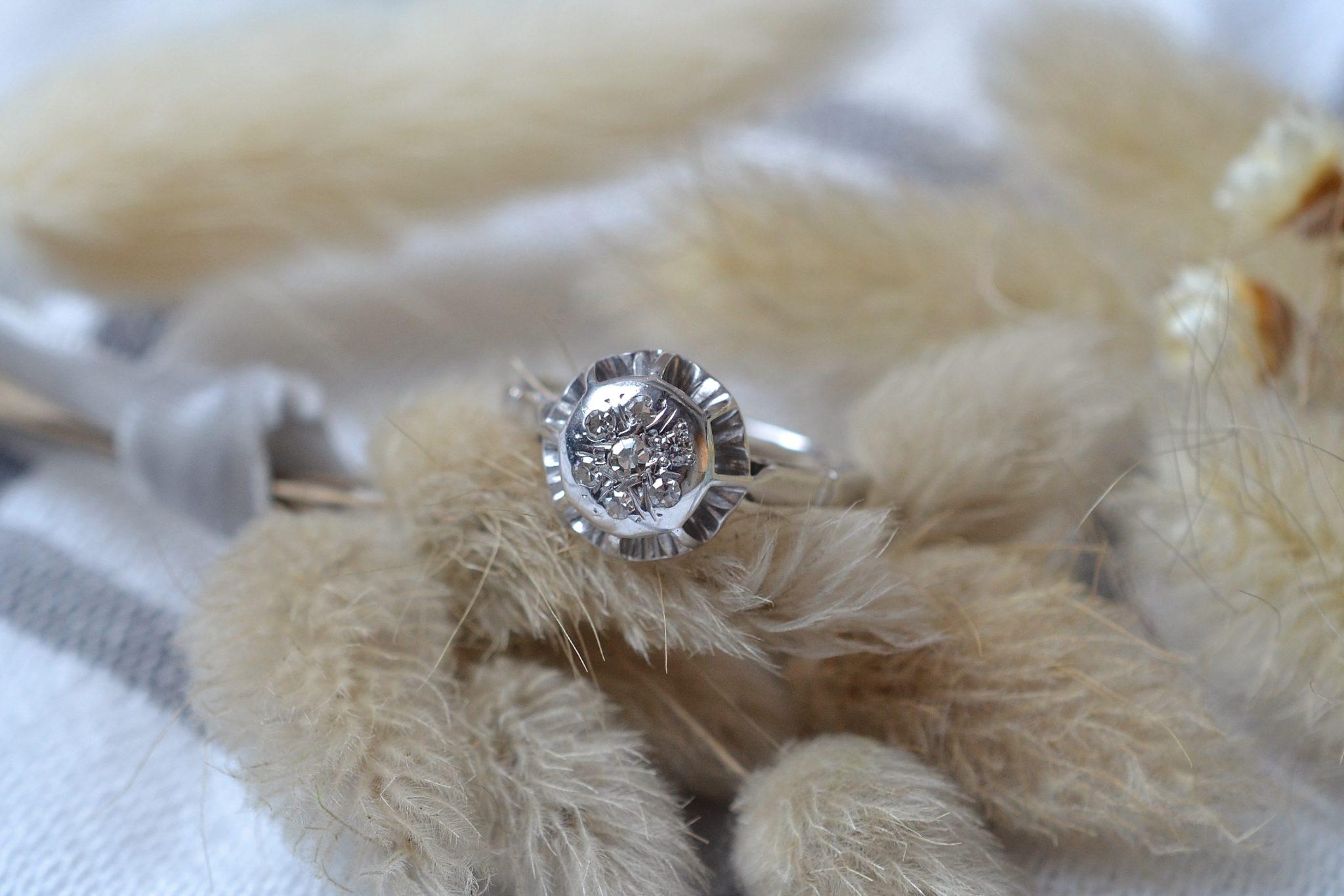 Bague Chaton Rond Diamants