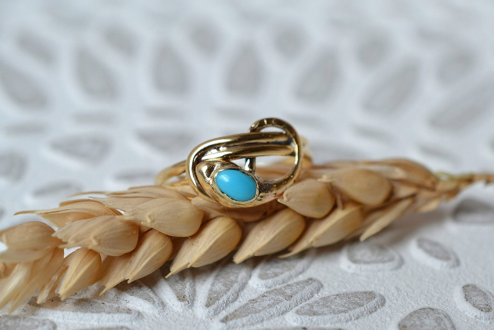 Bague Courbes Turquoise