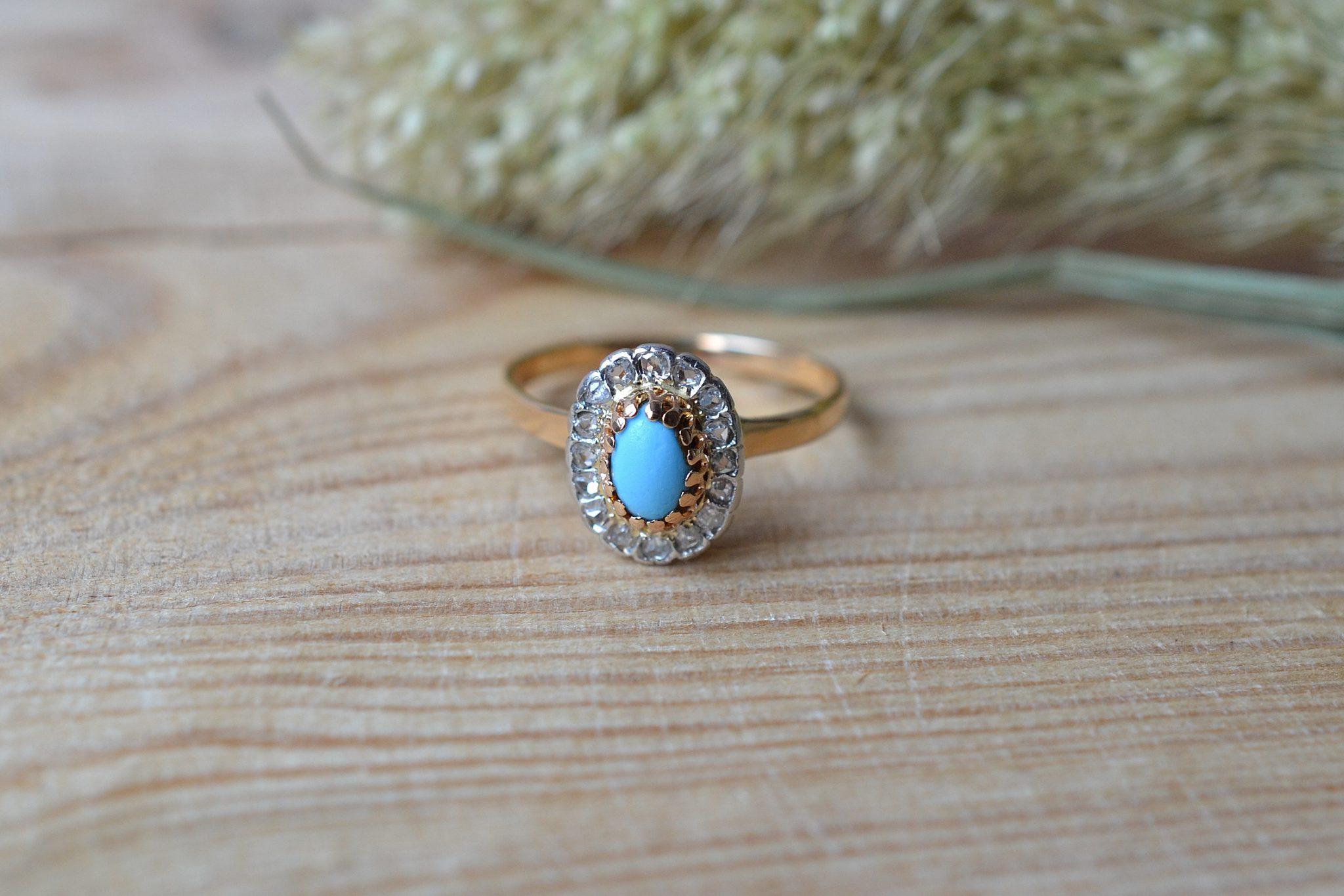 bague-deux-ors-turquoise-bijou-vintage-or-massif