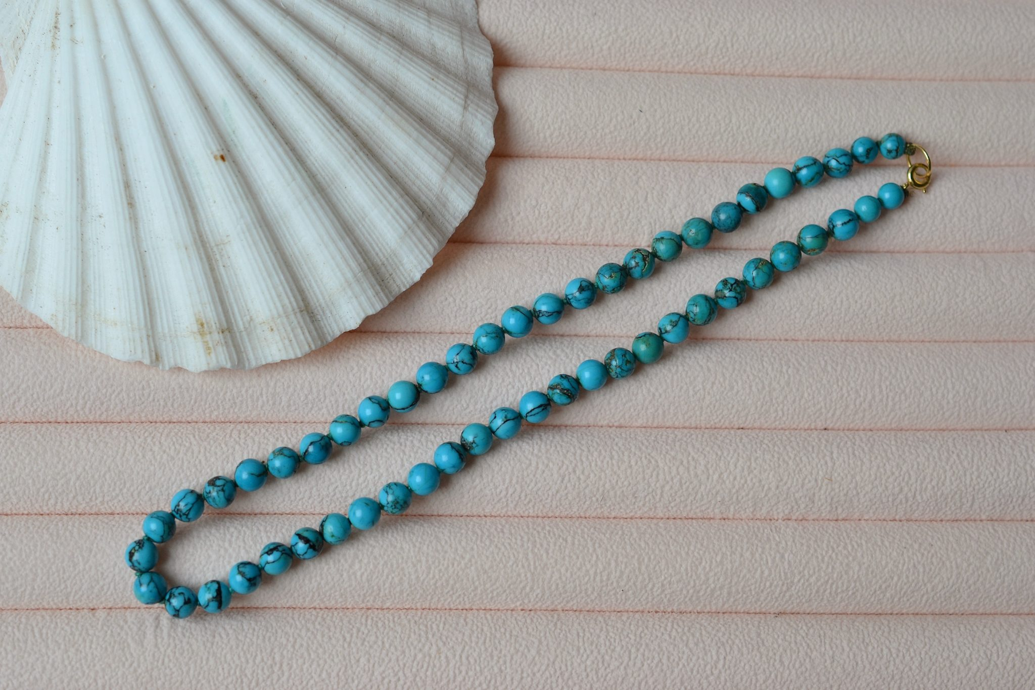 Collier Perles De Turquoise