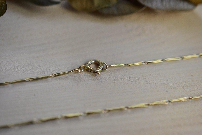 Chaine En Or Jaune Maille Fantaisie - Chaine Vintage