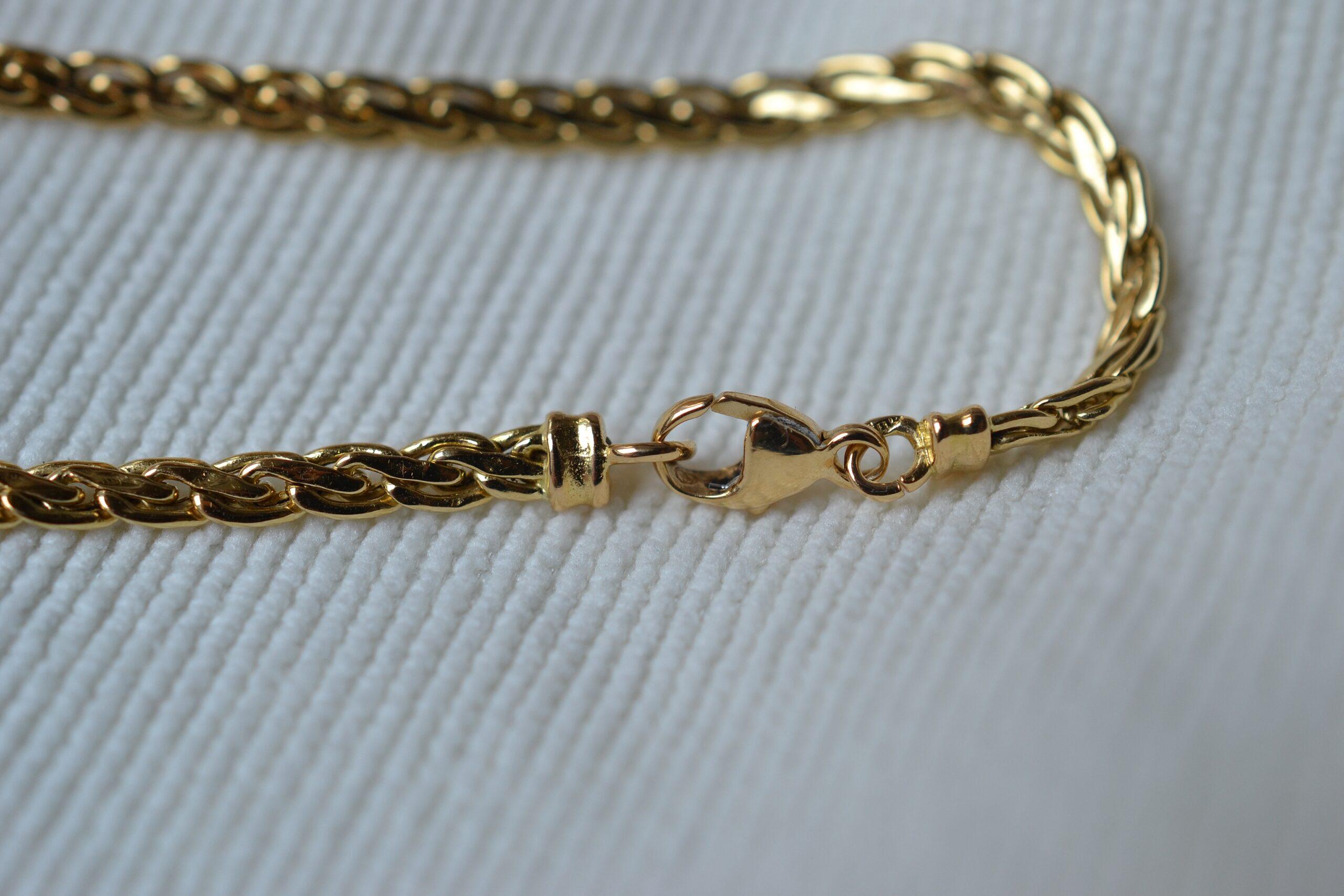bracelet maille bijou ancien 18 carats
