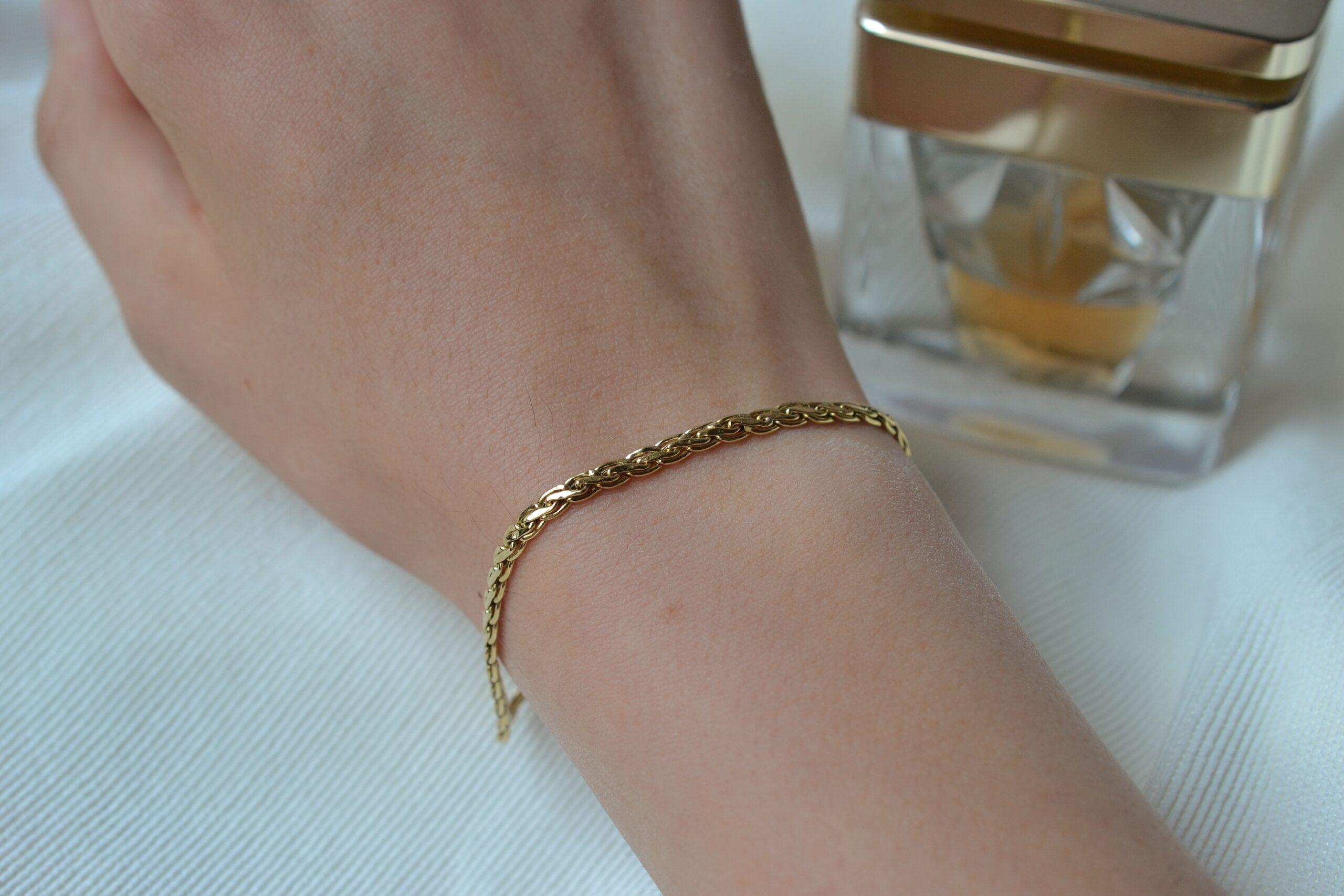 bracelet maille bijou ethique 18 carats