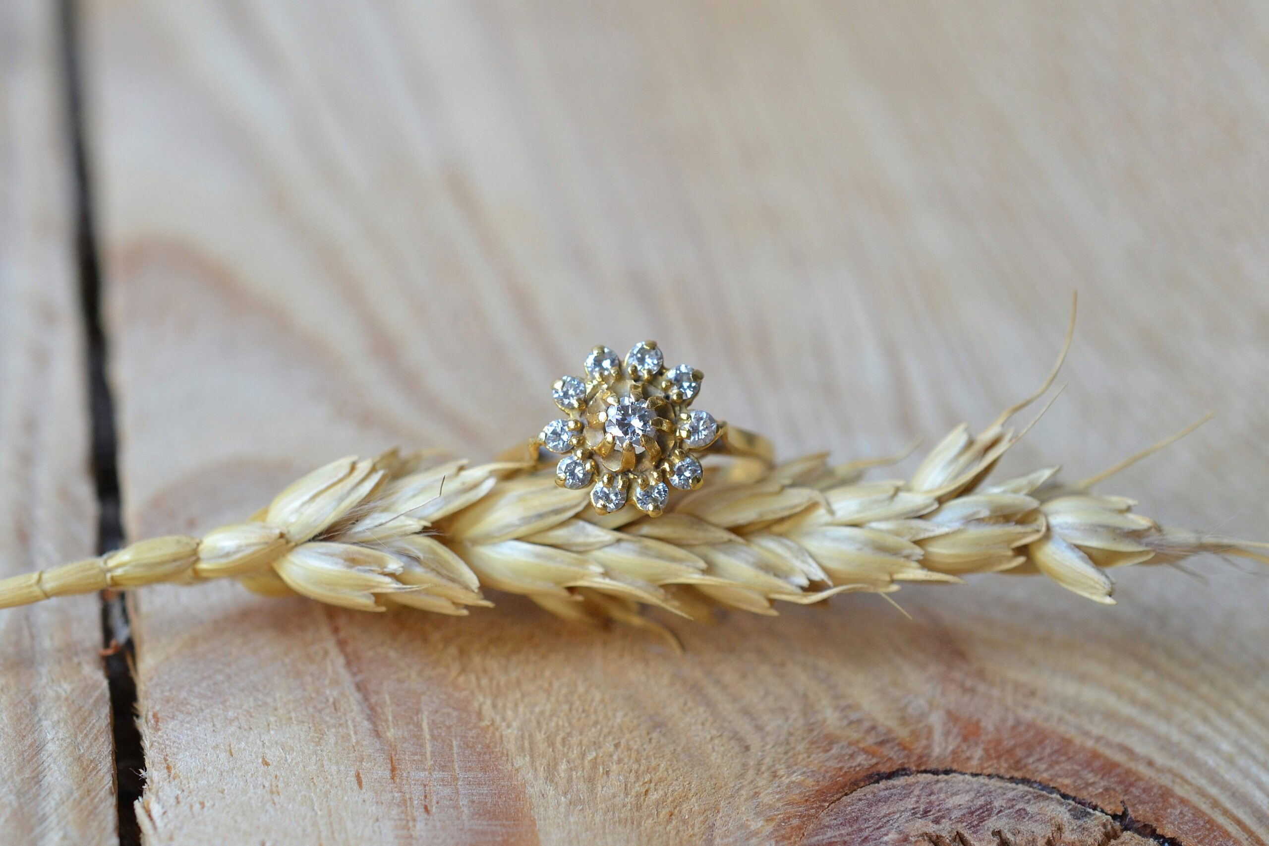 Bague Fleur Diamants Brillantés