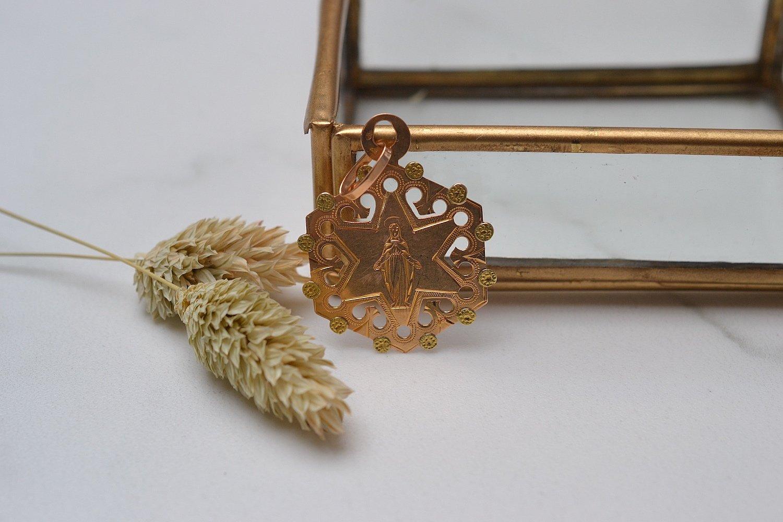 Médaille étoile Vierge Marie