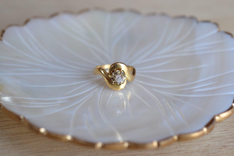 Bague Monture Tourbillon Diamant